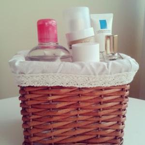 Skincare basket